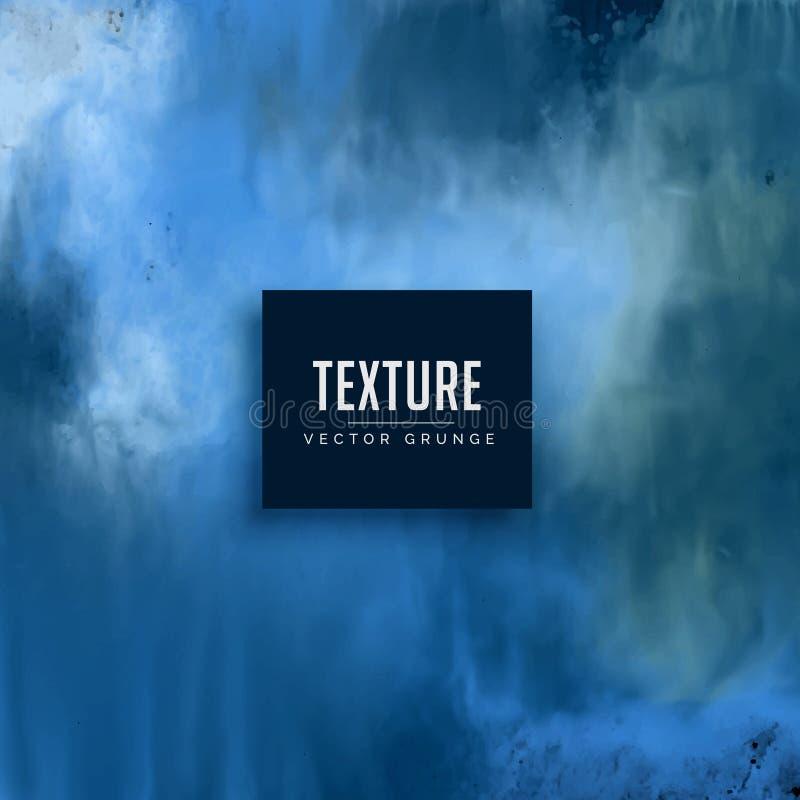 Fondo azul de la textura del grunge en estilo sucio stock de ilustración