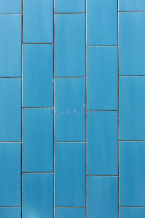 Fondo azul de la textura del modelo de las baldosas cerámicas fotos de archivo