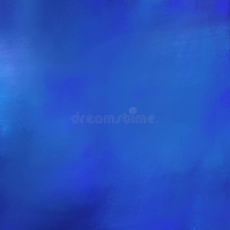 Fondo azul de la textura del rey Fondo seco profundamente coloreado del cepillo del añil Contexto artístico abstracto, lugar para imagenes de archivo