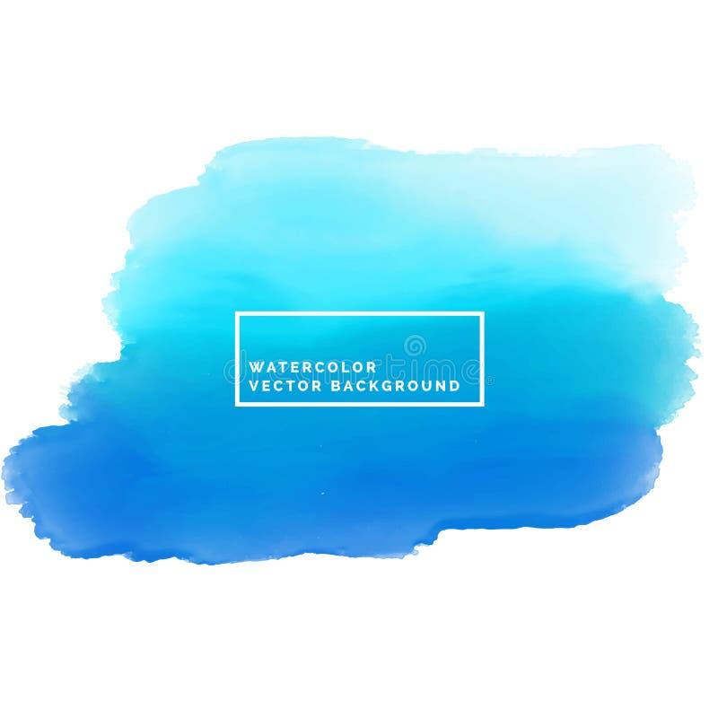 Fondo azul de la tinta de la mancha de la pintura de la acuarela libre illustration