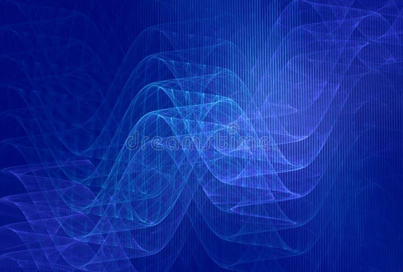 Fondo azul de las longitudes de onda ilustración del vector