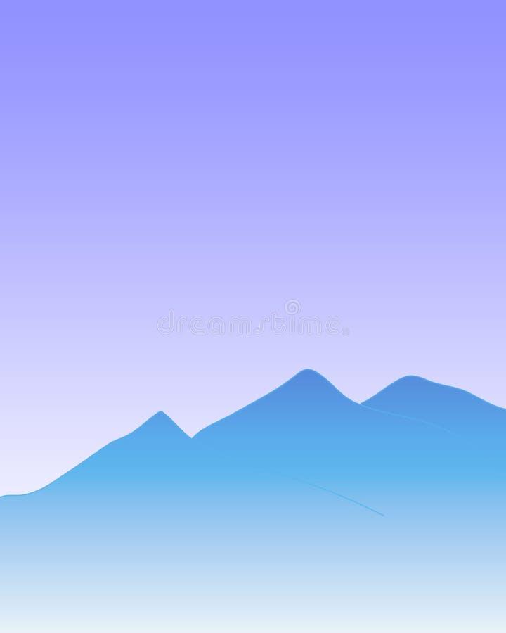 Fondo azul de las montañas libre illustration