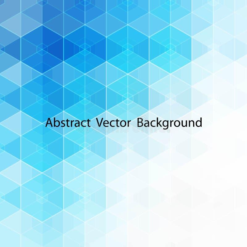 Fondo azul de los hexágonos del extracto del vector disposición del EPS 10 para hacer publicidad ilustración del vector