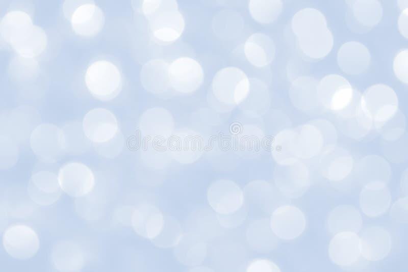Fondo azul de luces de la Navidad fotografía de archivo libre de regalías