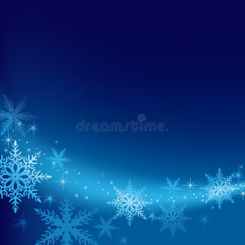 Fondo azul de Navidad ilustración del vector