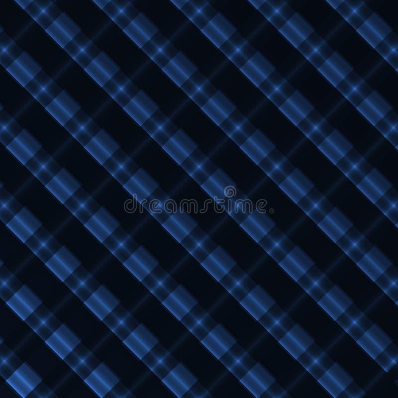 Fondo azul de neón abstracto con las líneas ilustración del vector