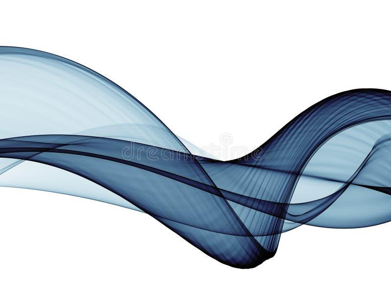 Fondo azul de ne?n de la onda del flujo del extracto stock de ilustración