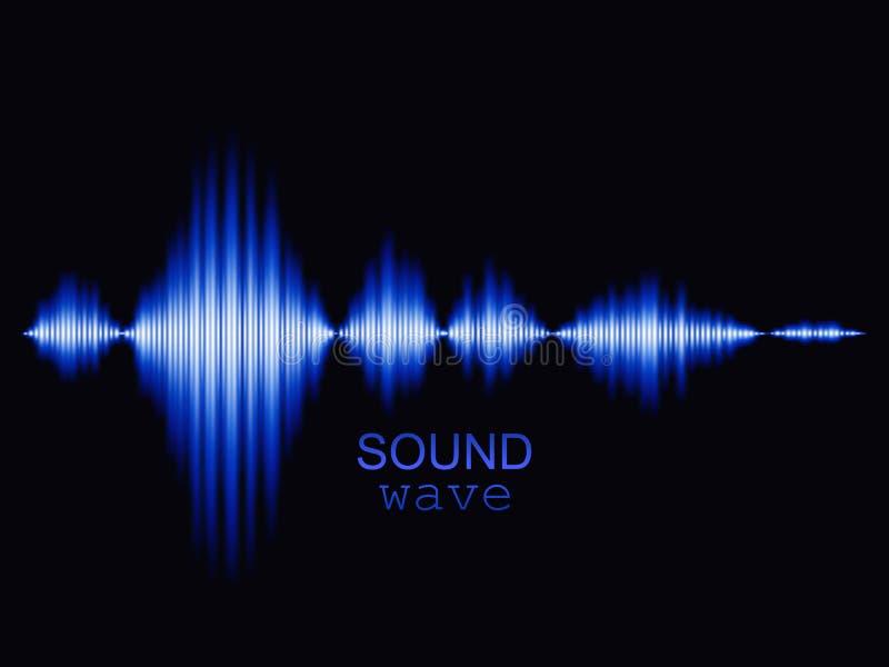Fondo azul de onda acústica ejemplo abstracto del vector stock de ilustración