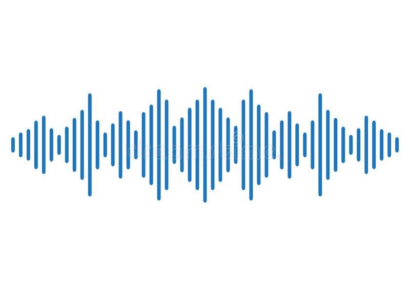 Fondo azul de onda acústica Vector stock de ilustración