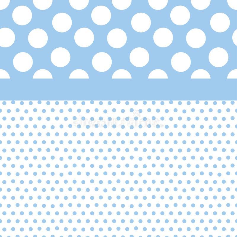 Fondo azul de puntos de polca ilustración del vector
