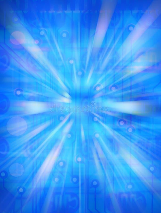 Fondo azul de tarjeta de circuitos foto de archivo