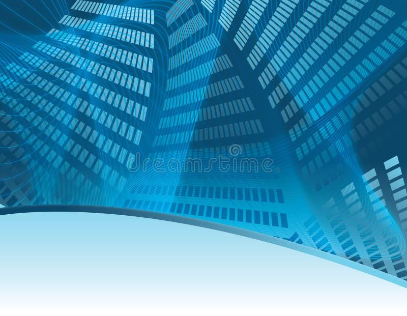 Fondo azul del asunto en paisaje ilustración del vector
