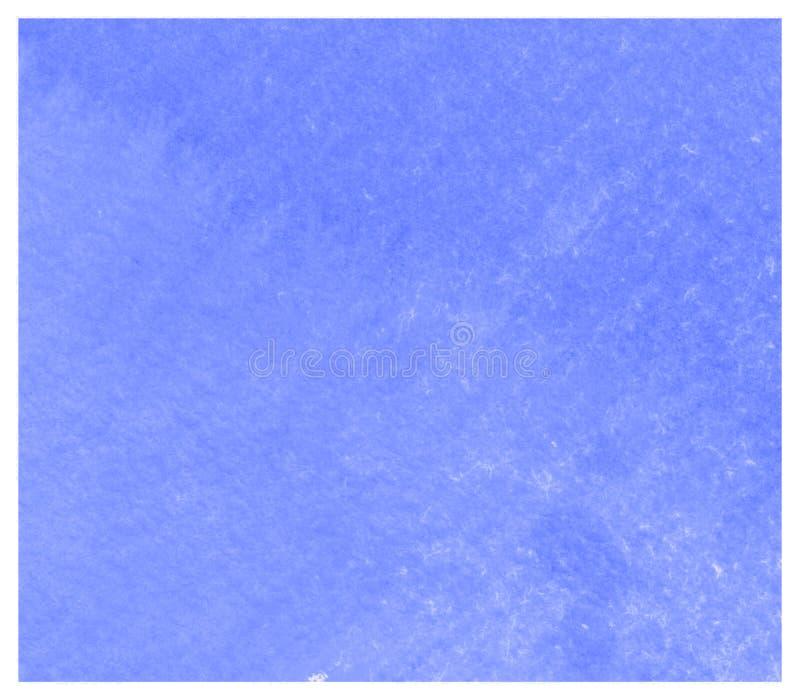 Fondo azul del cartel de la acuarela de las nebulosas coloridas abstractas stock de ilustración