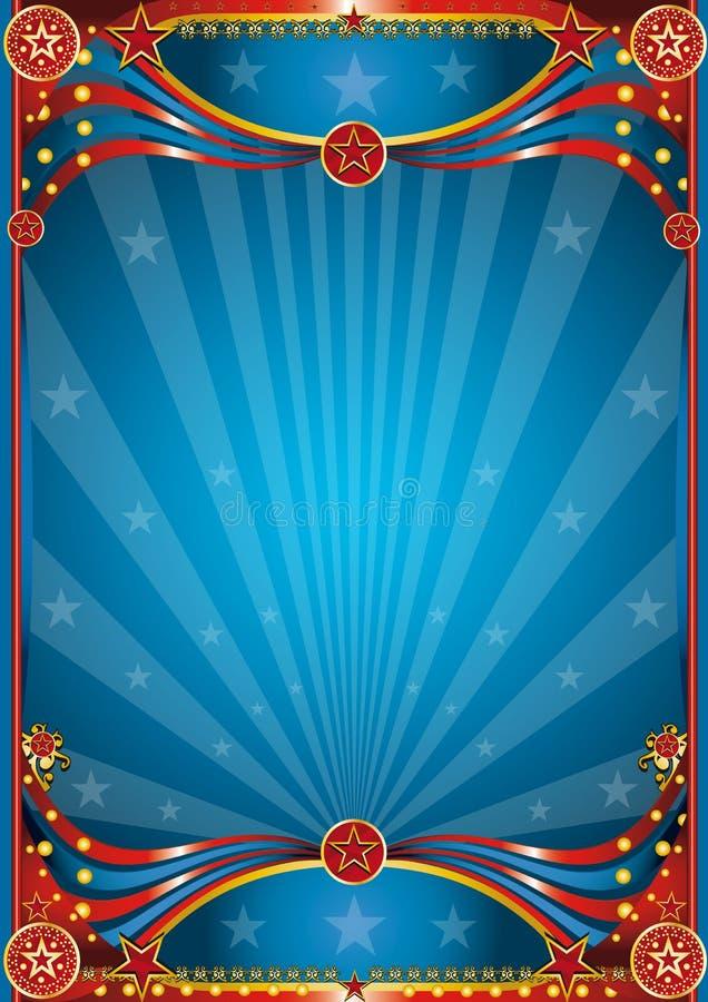Fondo azul del circo stock de ilustración