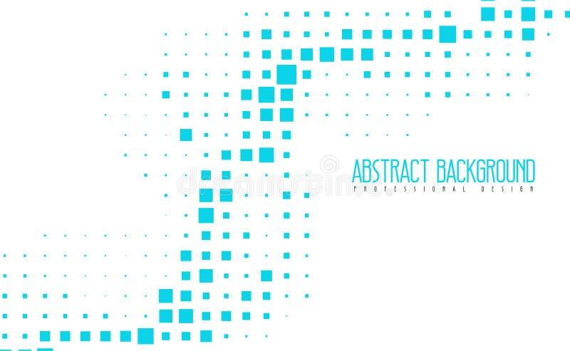 Fondo azul del color del mosaico moderno abstracto Ejemplos geométricos asombrosos del vector con eps10 libre illustration
