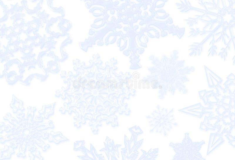 Fondo azul del copo de nieve stock de ilustración