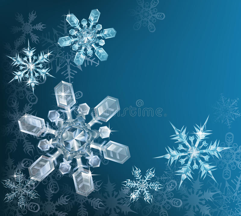 Fondo azul del copo de nieve de la Navidad libre illustration