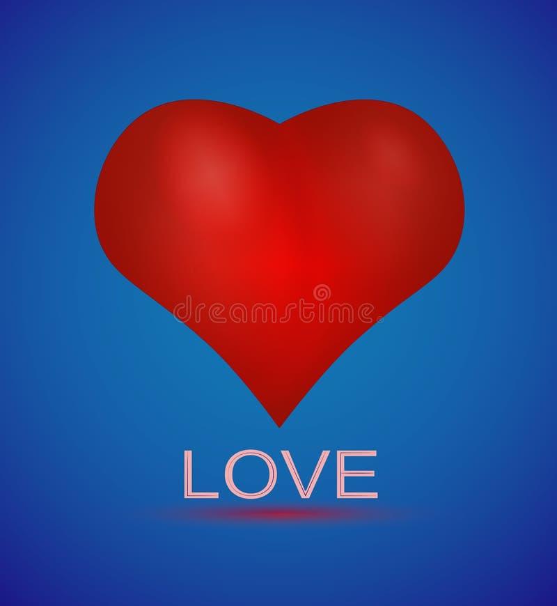 Fondo azul del día del ` s de StValentine del corazón fotos de archivo libres de regalías