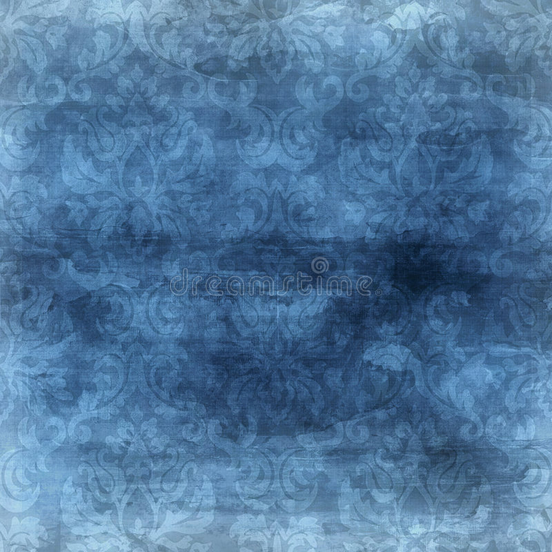 Fondo azul del damasco ilustración del vector