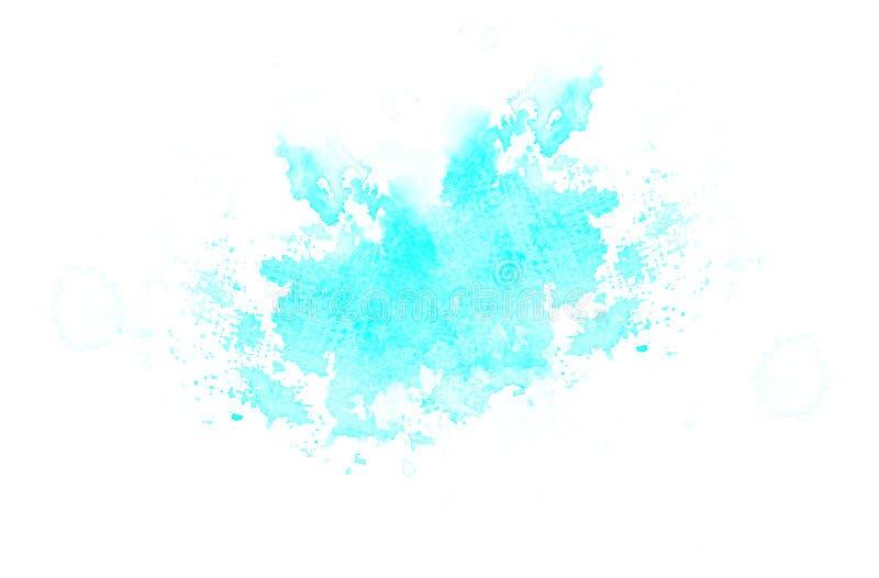 Fondo azul del divorcio del punto del extracto de la acuarela de Cian Modelo del vintage para diverso dise?o y la decoraci?n stock de ilustración