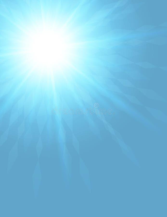 Fondo azul del espacio en blanco del winterburst ilustración del vector