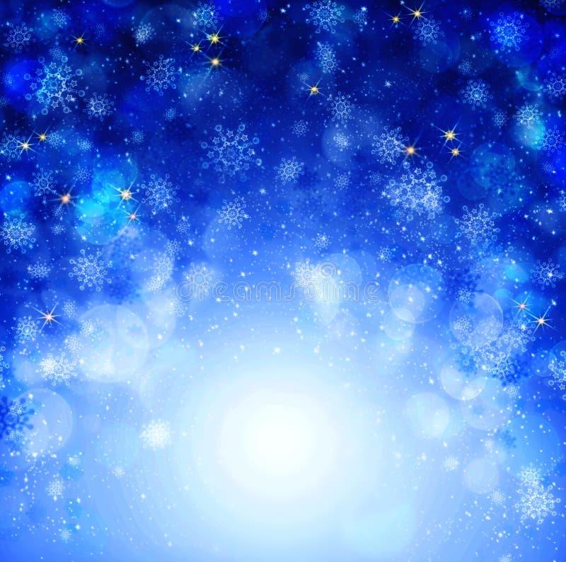 Fondo azul del extracto de la Navidad imágenes de archivo libres de regalías