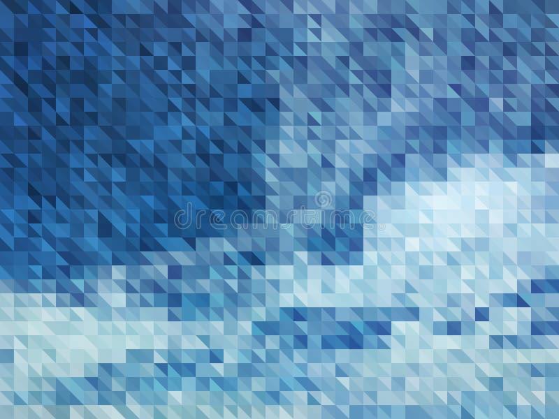 Fondo azul del extracto del vector del cielo con las nubes ilustración del vector