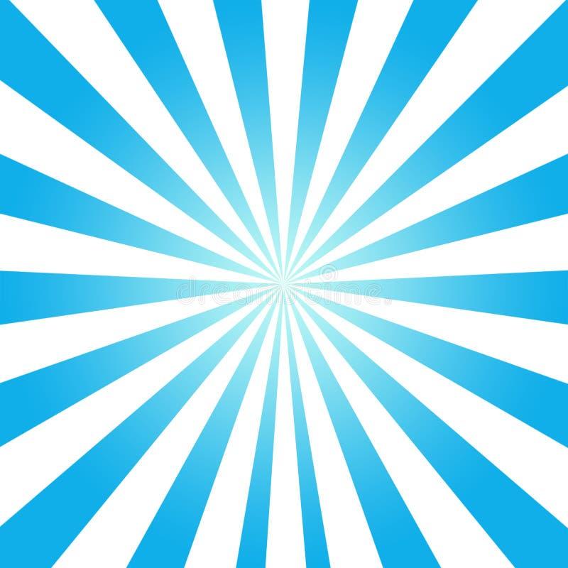 Fondo azul del foco del zoom del fondo del Aqua stock de ilustración