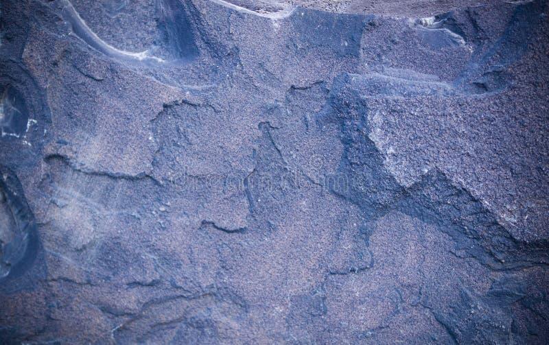 Fondo azul del granito con la ilustración geológico, textura foto de archivo libre de regalías