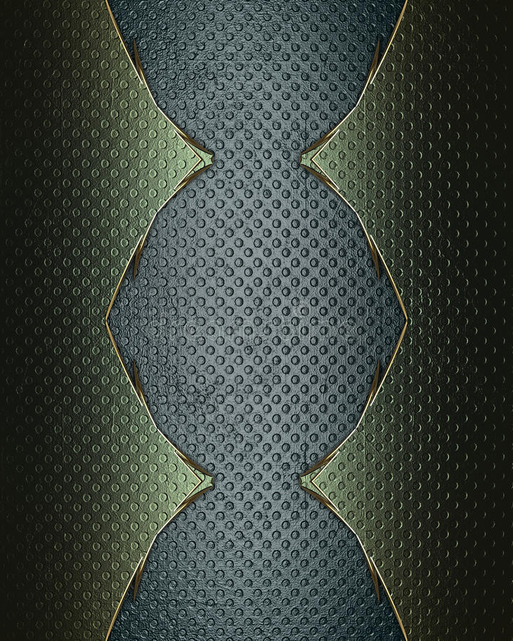 Fondo azul del Grunge con una frontera verde Plantilla para el diseño copie el espacio para el folleto del anuncio o la invitació ilustración del vector