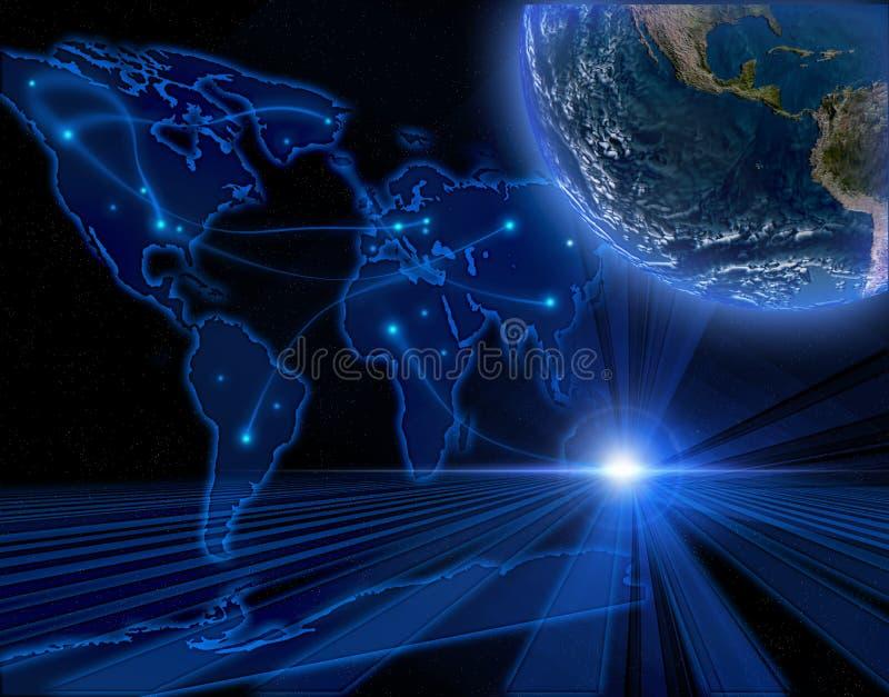 Fondo azul del Internet ilustración del vector