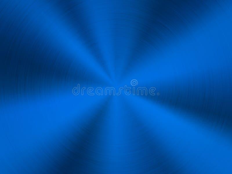 Fondo azul del metal de la tecnología stock de ilustración