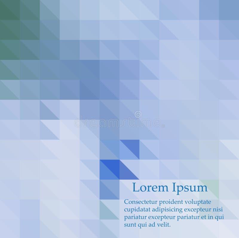Fondo azul del mosaico del extracto del vector Ejemplo geom?trico en estilo de la papiroflexia con pendiente ilustración del vector