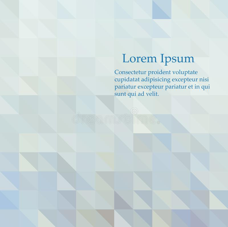 Fondo azul del mosaico del extracto del vector Ejemplo geom?trico en estilo de la papiroflexia con pendiente libre illustration