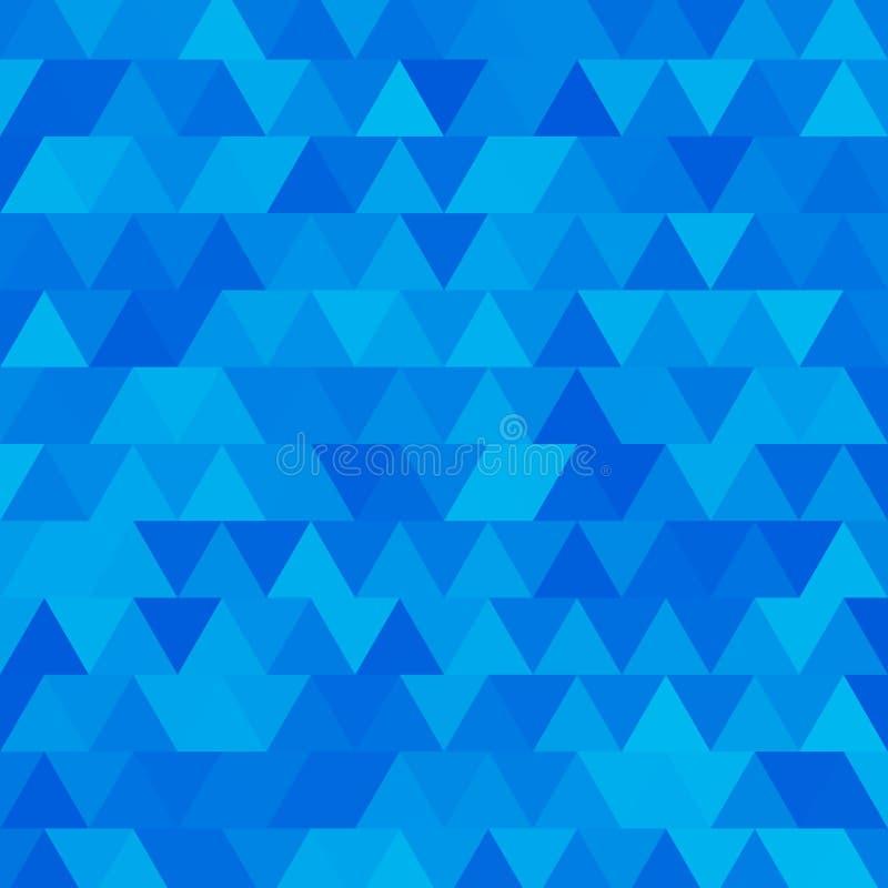 Fondo azul del mosaico del triángulo stock de ilustración
