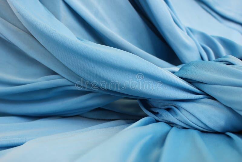 Fondo azul del paño fotos de archivo