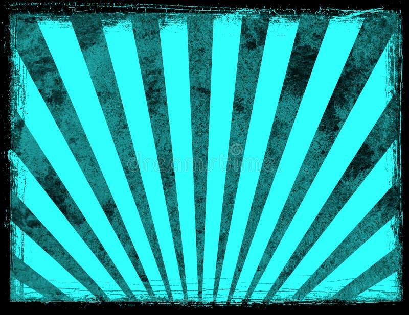 Fondo azul del resplandor solar stock de ilustración
