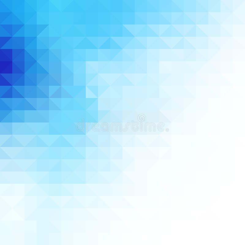 Fondo azul del triángulo ilustración del vector