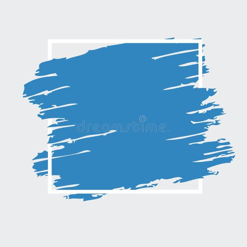 Fondo azul del vector con la frontera libre illustration
