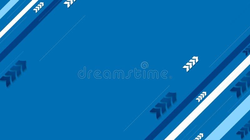 Fondo azul del vector de la tecnología con las rayas y las flechas diagonales libre illustration