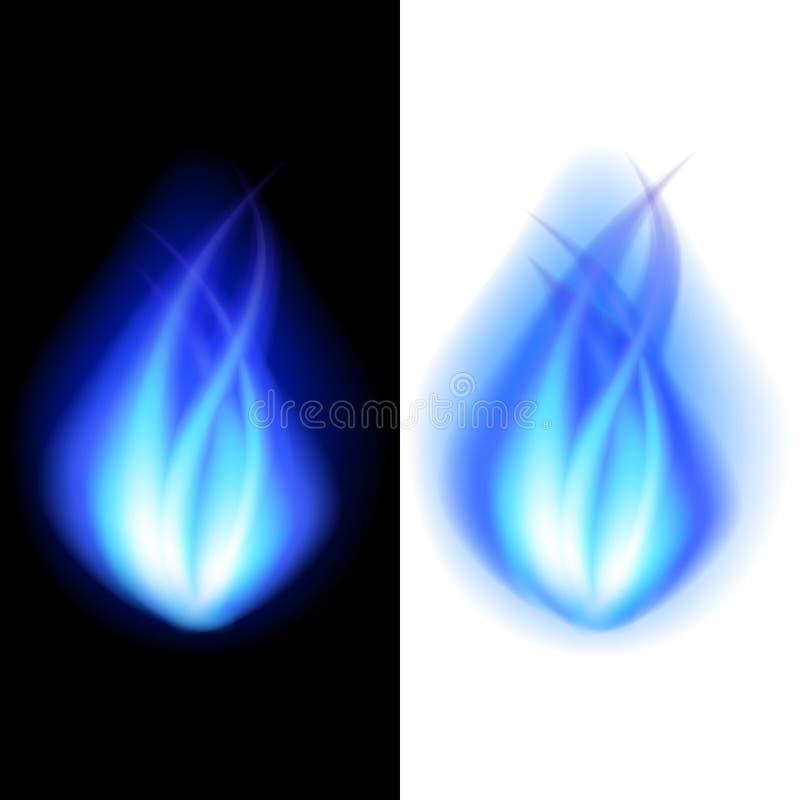 Fondo azul del vector del fuego stock de ilustración