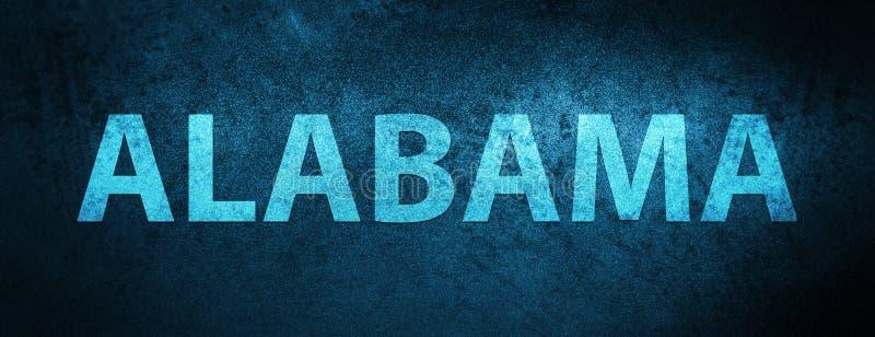 Fondo azul especial de la bandera de Alabama los E.E.U.U. ilustración del vector