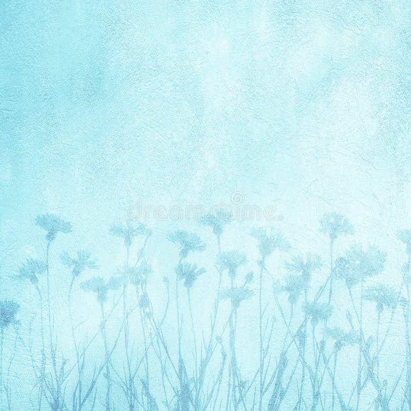 Fondo azul floral decorativo del arte hermoso imágenes de archivo libres de regalías