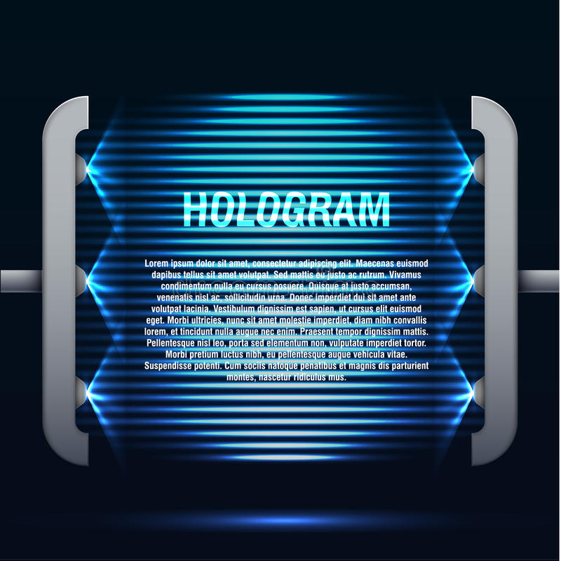 Fondo azul futurista del holograma que brilla intensamente libre illustration