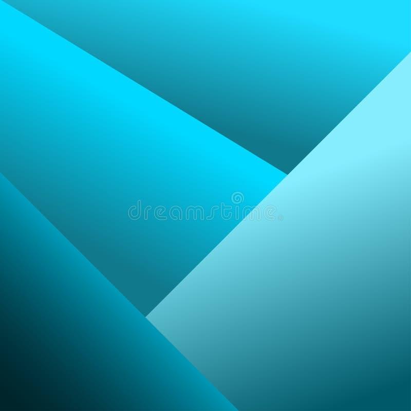 Fondo azul geom?trico abstracto Vector stock de ilustración