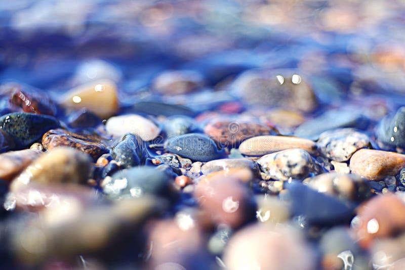 Fondo azul gris frío abstracto con la falta de definición de movimiento foto de archivo libre de regalías