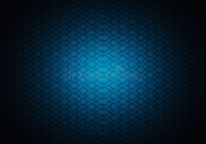 Fondo azul múltiple único generado por ordenador de las ilustraciones de los modelos de los fractales del extracto 3d stock de ilustración