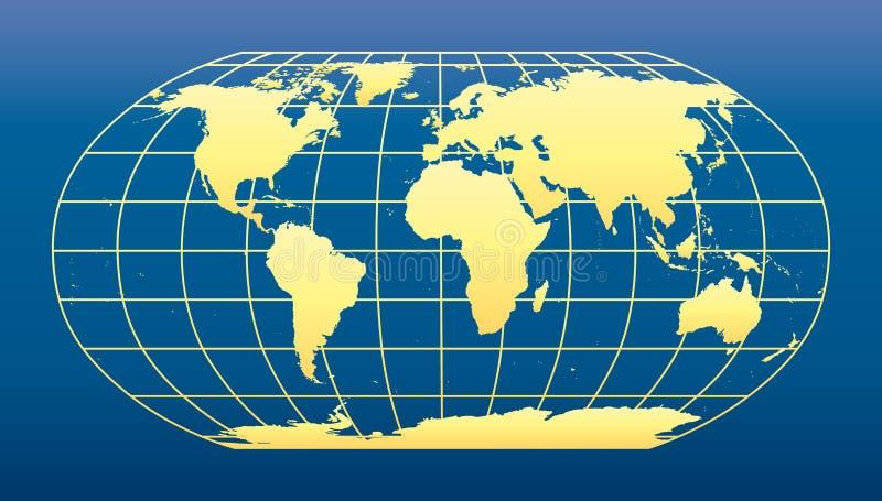 Fondo azul marino de la correspondencia de mundo stock de ilustración