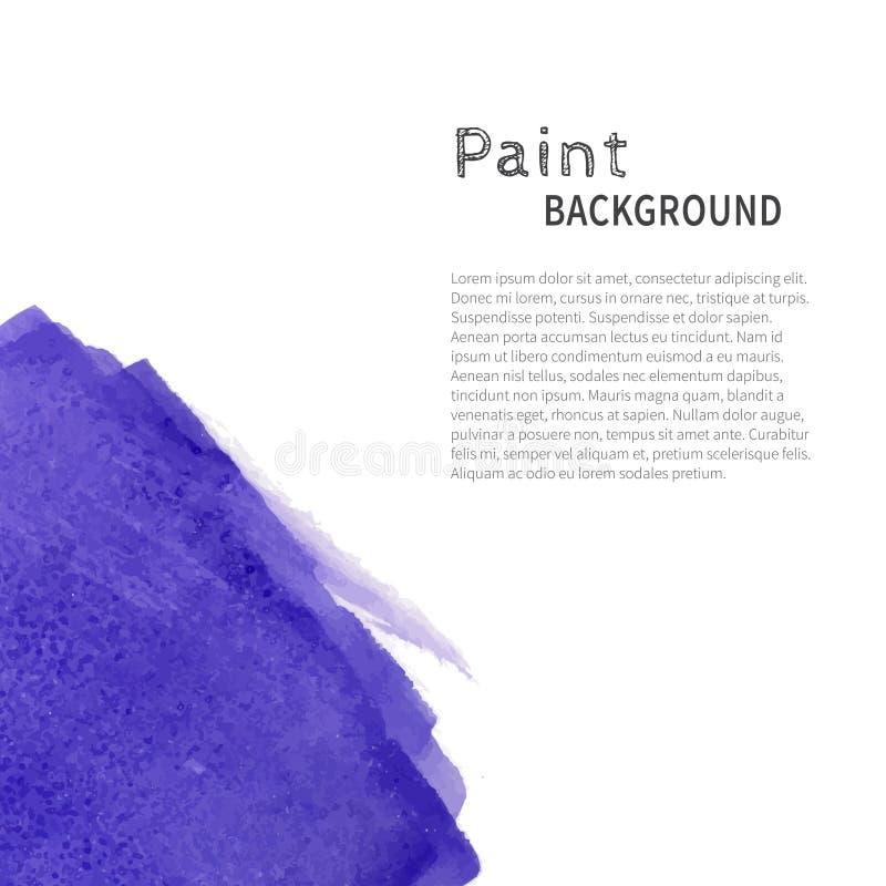 Fondo azul marino de la pintura de la acuarela stock de ilustración
