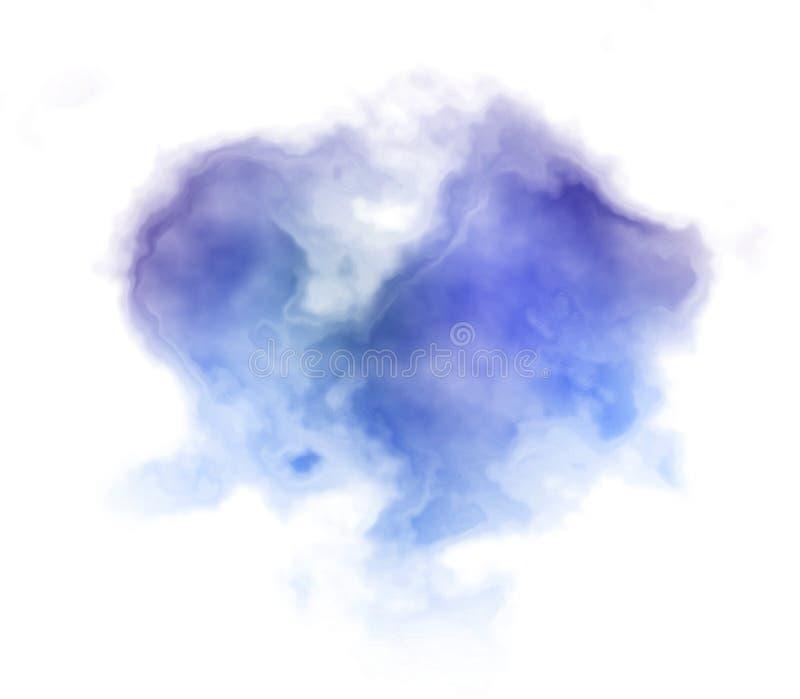Fondo azul marino de la pintura del bstract del  de Ð stock de ilustración